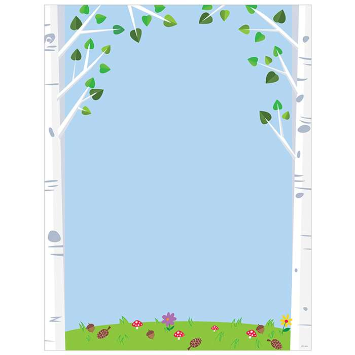 Woodland Friends Birch Trees Chart, CTP5294