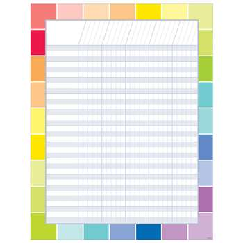 Rainbow Paint Chip Incentive Chart, CTP5326