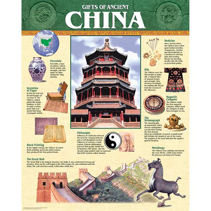 Ancient China Chart By Creative Teaching Press