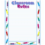 Chart Classroom Rules 17 X 21 By Creative Teaching Press