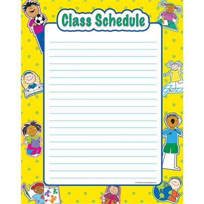 Class Schedule Classroom Essentials Chart By Creative Teaching Press