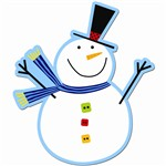 Snowman 6In Cut Outs By Creative Teaching Press