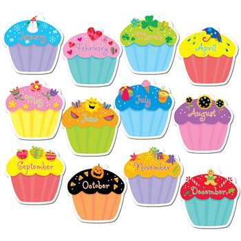 Cupcakes Jumbo Cut Outs By Creative Teaching Press