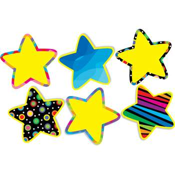 Poppin Pattern Stars Jumbo Cut Outs By Creative Teaching Press