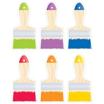 "Paintbrushes 6"" Cut Outs Painted Palette, CTP5958"