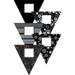 Black And White Pennants 10In Designer Cut Outs By Creative Teaching Press