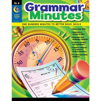 Grammar Minutes Gr 6 By Creative Teaching Press