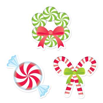 "Peppermint Candies 6"" Cut Outs Designer, CTP6415"