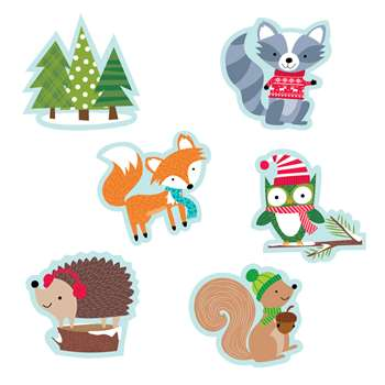 "Winter Woodland Friends 6"" Cutouts Designer, CTP6418"