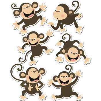 Monkeys 6In Designer Cut-Outs By Creative Teaching Press