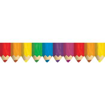 Colored Pencils Borders By Creative Teaching Press