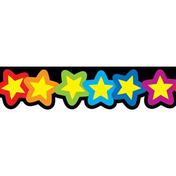 Rainbow Of Stars Borders By Creative Teaching Press