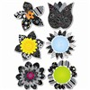 Black And White Flowers 6In Designer Cut Outs By Creative Teaching Press