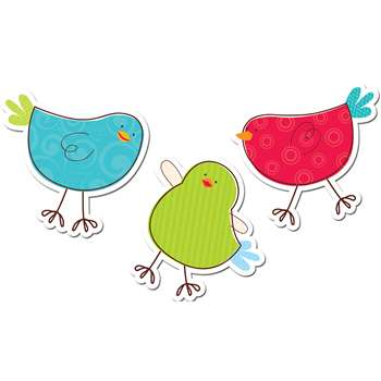 Tweeting Birds 6In Designer Cut Outs By Creative Teaching Press