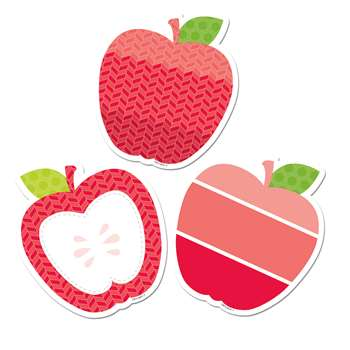 "Poppy Red Apples 6"" Designer Cut Outs - Paint, CTP6493"