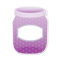 "Purple Mason Jar 6"" Designer Cut Outs - Paint, CTP6499"