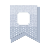 "Slate Gray Pennants 6"" Designer Cut Outs - Paint, CTP6500"