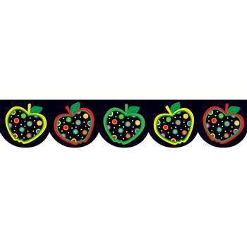 Dots On Black Apples Border By Creative Teaching Press