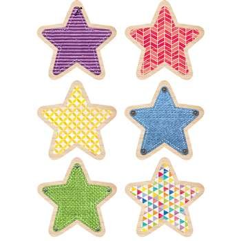 "Stars 6"" Cut Outs Upcycle Style, CTP6518"