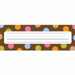 Dots On Chocolate Name Plates By Creative Teaching Press