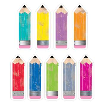 "Pencils 6"" Cut Outs Upcycle Style, CTP6592"