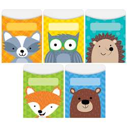 Woodland Friends Library Pockets Standard Size, CTP6744