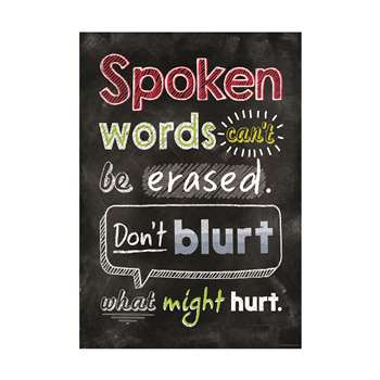 Spoken Words Cant Be Erased Inspire U Poster, CTP6749