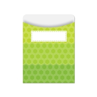 Ombre Lime Green Hexagons Library Pockets - Paint, CTP6786