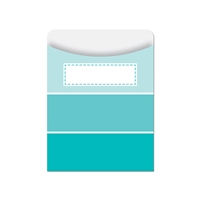 Turquoise Paint Chip Library Pockets - Paint, CTP6787