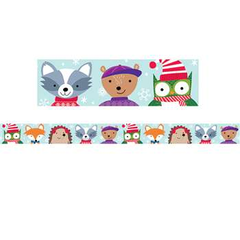 Winter Woodland Friends Border, CTP6809