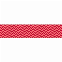 Poppy Red Herringbone Border, CTP6822