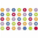 Shop Hexagon Calendar Days - Ctp6891 By Creative Teaching Press
