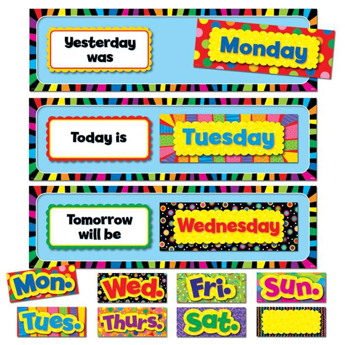 Poppin Patterns Days Of The Week Mini Bulletin Board Set By Creative Teaching Press