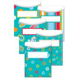 Dots On Turquoise Library Pockets By Creative Teaching Press