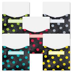 Dots On Chalkborad 9X12 Library Pockets, CTP6927