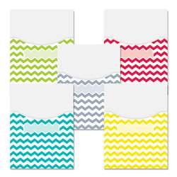 Chevron Solids 9X12 Library Pockets, CTP6928