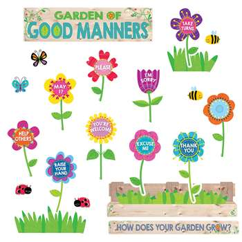 Garden Of Good Manners Mini Bulletin Board Set, CTP6949