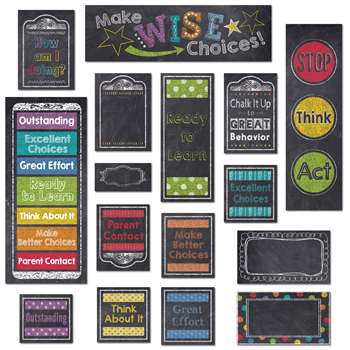 Behavior Clip Chart Mini Bb Set Chalk, CTP6960