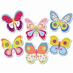 Butterflies 10In Designer Cut Outs By Creative Teaching Press