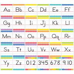 Traditional Manuscript Alphabet Bulletin Board Set, CTP7055