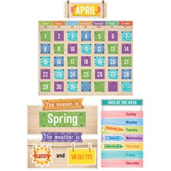 Upcycle Style Calendar Bulletin Board Set, CTP7061