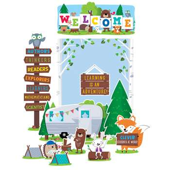 Woodland Friends Welcome Bulletin Board Set, CTP7069
