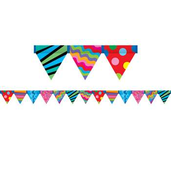 Poppin Patterns Pennant Border By Creative Teaching Press