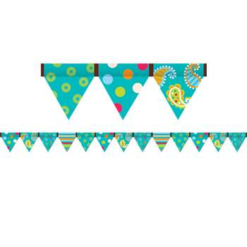 Dots On Turquoise Pennant Border By Creative Teaching Press