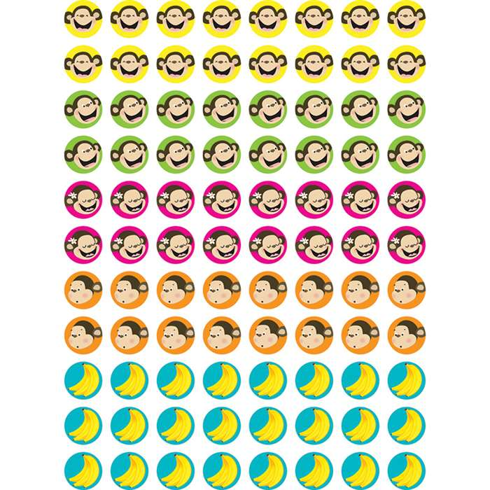 Monkeys & Bananas Hot Spots Stickers By Creative Teaching Press