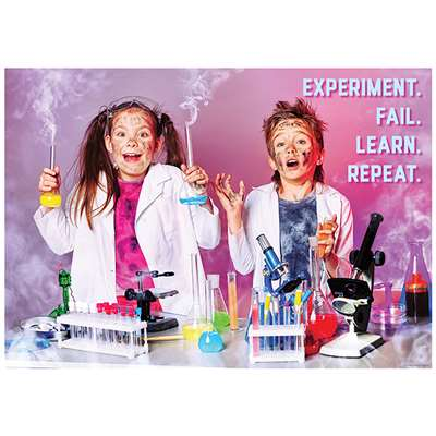 Experiment Fail Learn Repeat Poster, CTP7272