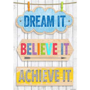 Dream It Believe It Achieve It Inspire U Poster, CTP7286