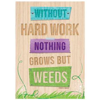 Without Hard Work Inspire U Poster, CTP7287