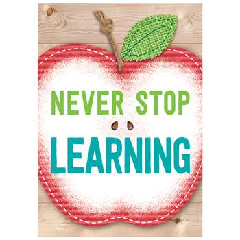 Never Stop Learning Inspire U Poster, CTP7289