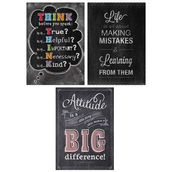 Think Positive Poster Pack Chalk It Up, CTP7486